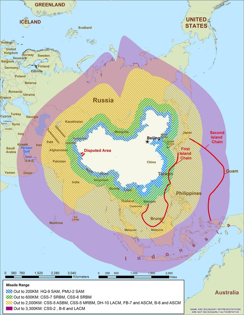 China's conventional strike -- 2013 DoD report on China