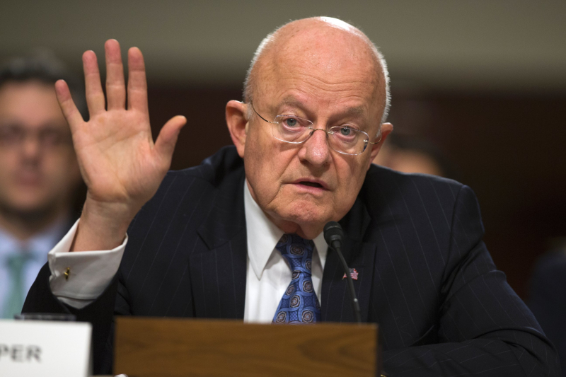 Clapper testifying