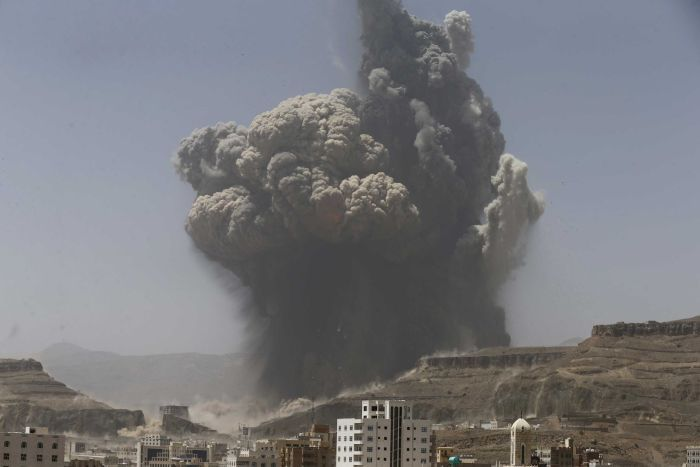 Saudi air strike - Reuters